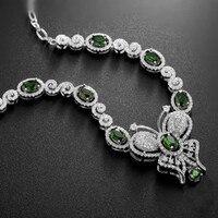 Природный диопсид подвеска ожерелье бабочка 925 серебряных россии изумрудный прекрасная женщина элегантные украшения камень девушки подар