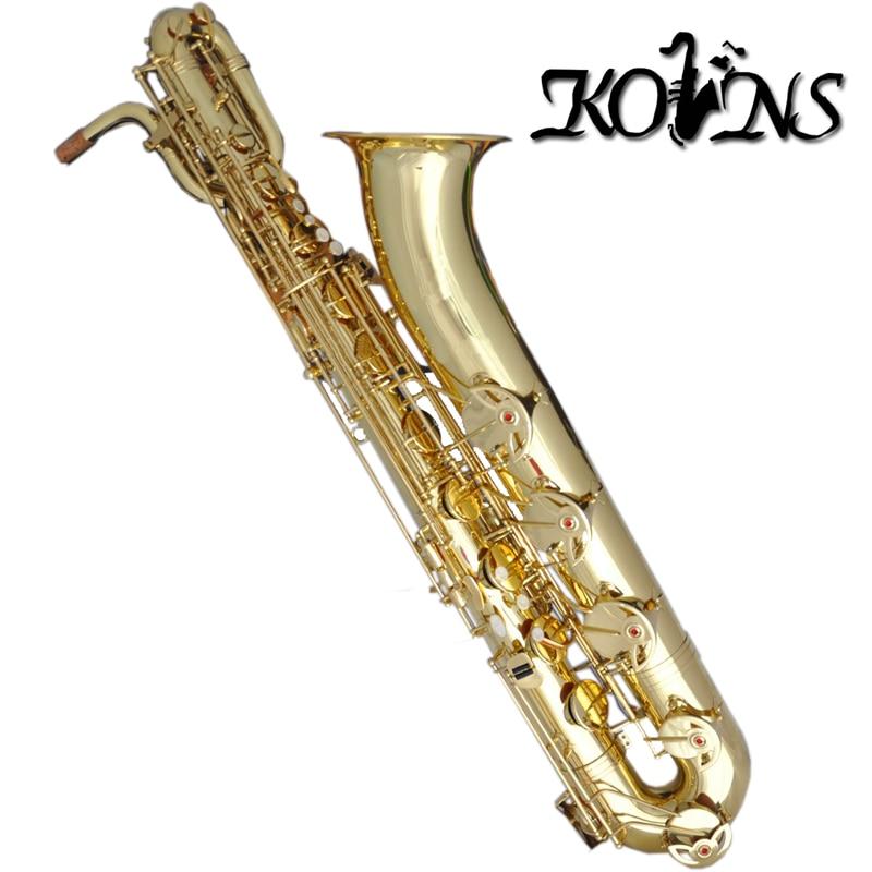 Professional Gold Kolns Baritone Saxophone Low A Key Sax High F# ботильоны gold key gold key go020awmbq30
