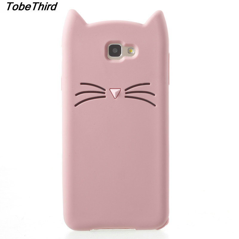 TobeThird For Case Samsung J7 Prime 3D Moustache Cat Cute Silicone Shell Phone Cover Case for Samsung Galaxy J7 Prime 5.5 inch
