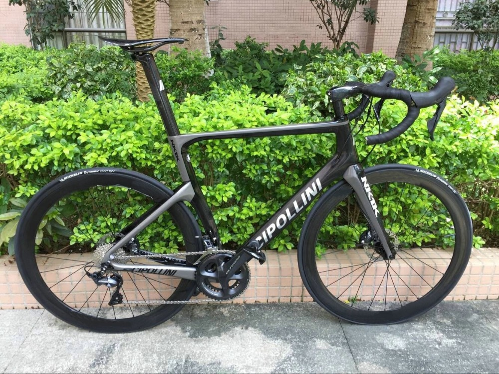 Disc Brake Cipollini NK1K Carbon Road Complete bike with Original R7020 ULTEGRA groupset Thru axle brake