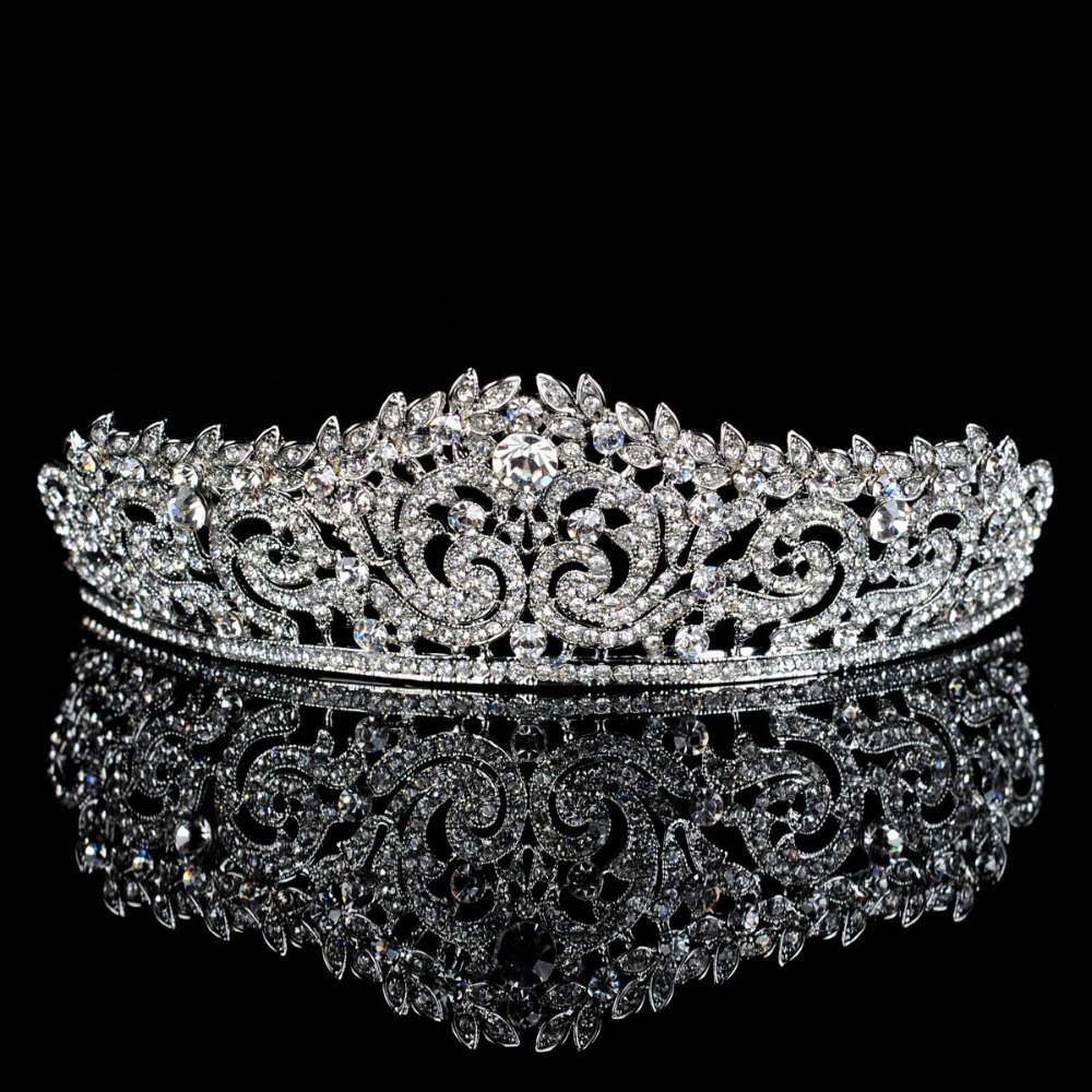 Prix pour Topwedding Strass Casque Nuptiale De Mariage Tiara Couronne, femmes