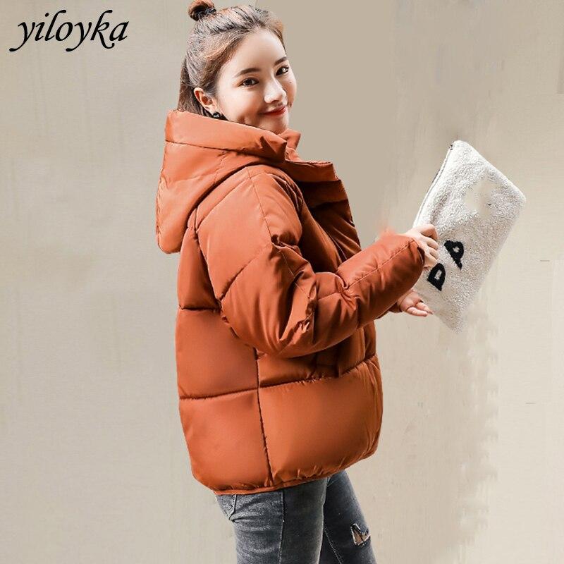 New Women Fashion Jackets Short Warm Coat Autumn Hooded Short Jacket New 2019 Ladies   Parka   Winter Coats Outwear Female Overcoat