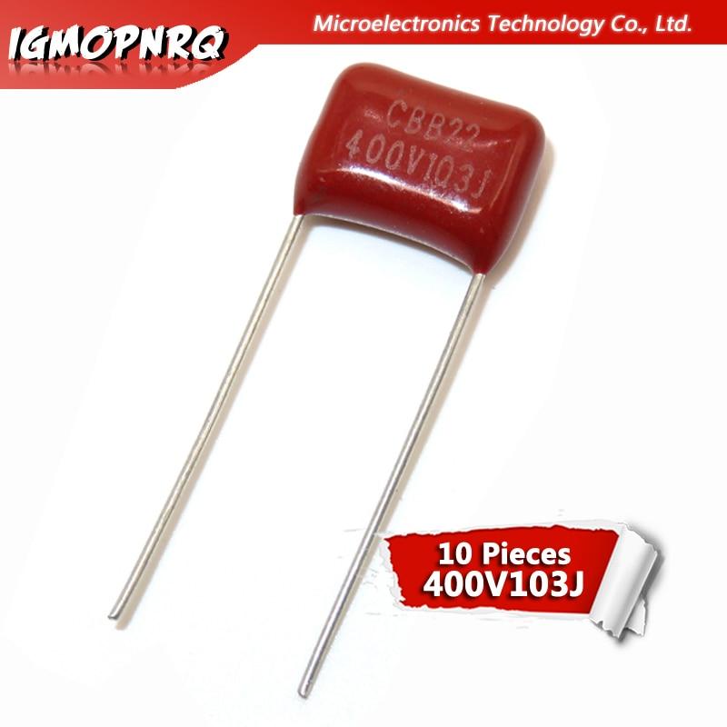 10 шт. 400V103J 0,01 мкФ 10NF 103 400 В шаг 10 мм igmopnrq CBB полипропиленовая пленка конденсатор Новый