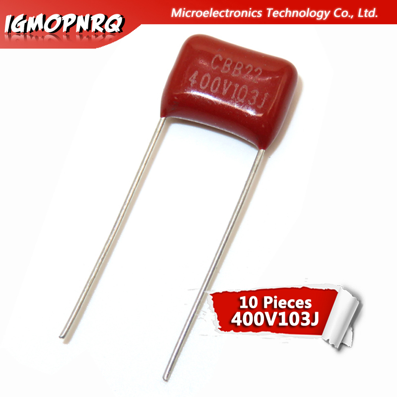 10PCS 400V103J 0.01UF 10NF 103 400V Pitch 10MM Igmopnrq CBB Polypropylene Film Capacitor New