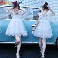2018 Girl White Princess Dress Kids Lace Dresses For Girls Summer Dresses Vestdios Infant Children Clothes