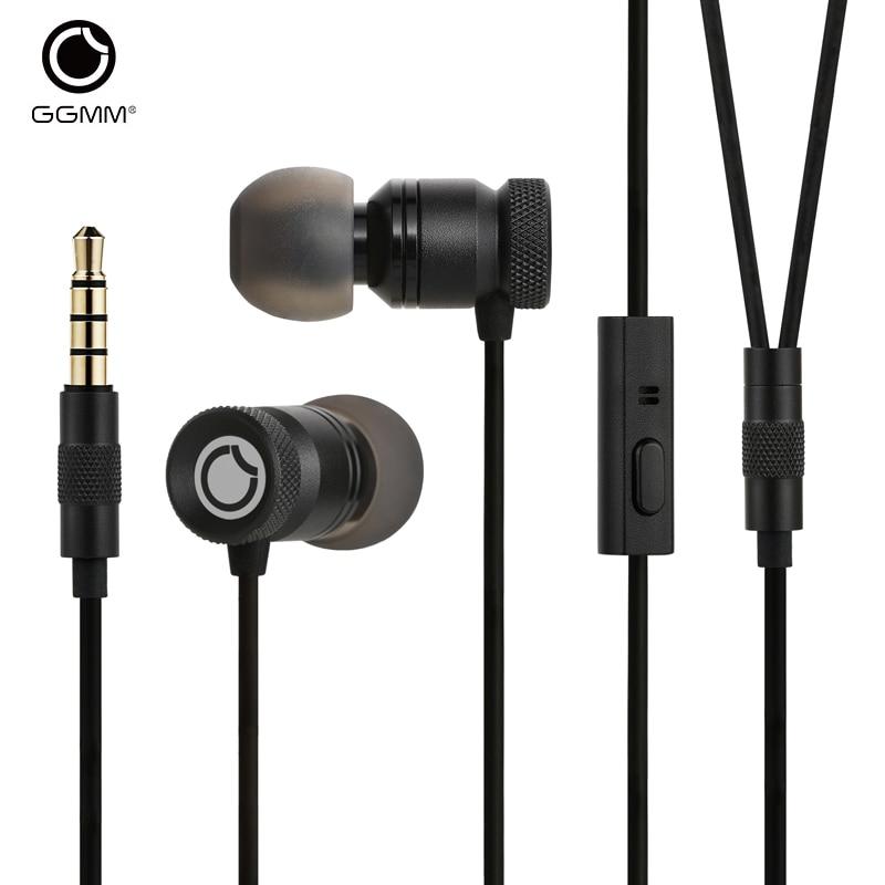 GGMM Nightingale Écouteurs avec Micro Écouteurs En Métal Logement 3.5mm HD HiFi Basse Stéréo Écouteurs Écouteurs pour Téléphone Casque de Jeu