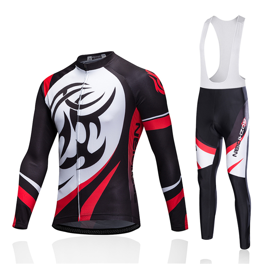 Winter Thermal Fleece Cycling Jersey Set Quick Dry Mountain Bike Uniform Cycling Clothing for Men Bicycle