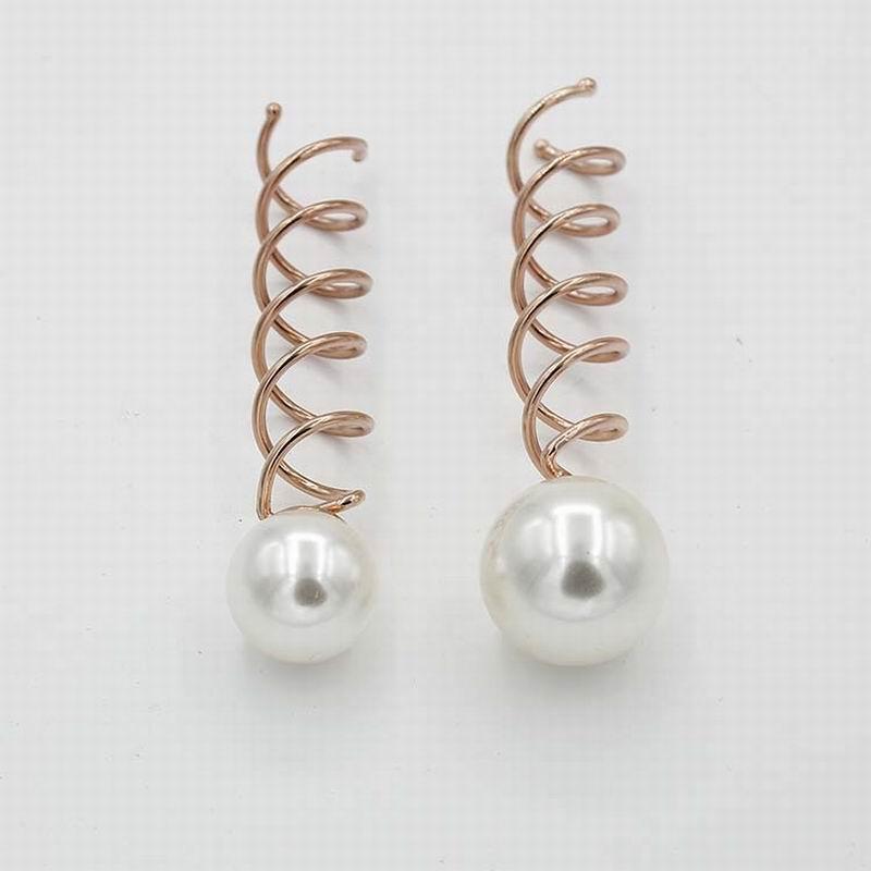 20 Teil/los Neue Design Kleine Große Simulierte Perlen Haarschmuck Braut Spin Screw Pin Haarspange Haarspangen Für Frauen