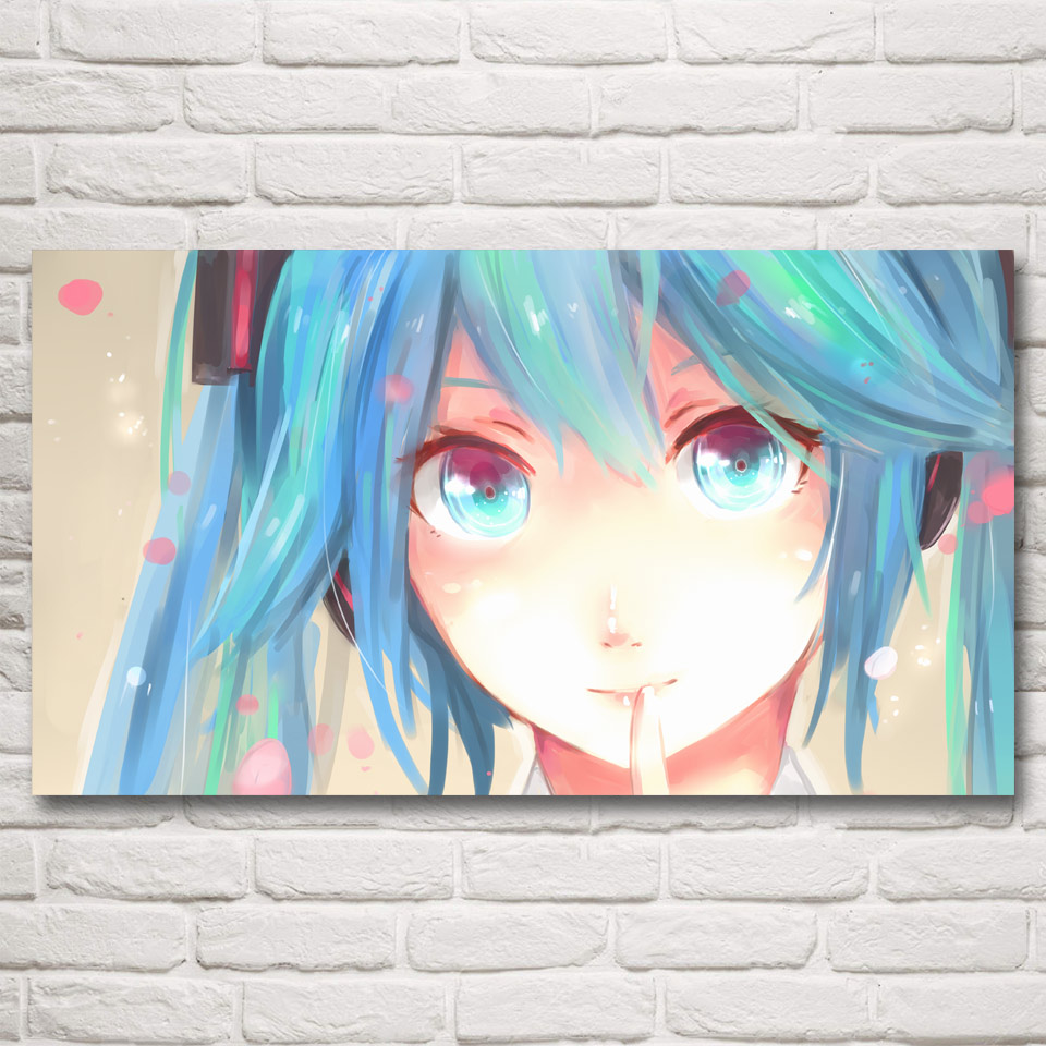 FOOCAME Vocaloid Hatsune Miku Anime Art Silk Posters and Prints Painting Home Decor Wall Pictures For Living Room 30x54 Inches