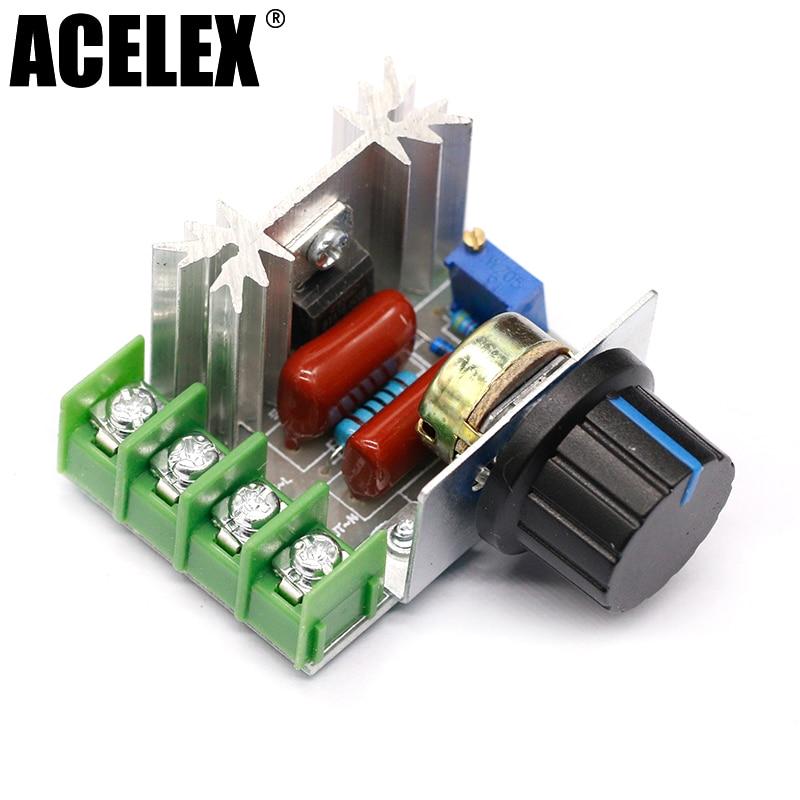 2000W 220V SCR Electronic Voltage Regulator Module Speed Control Controller