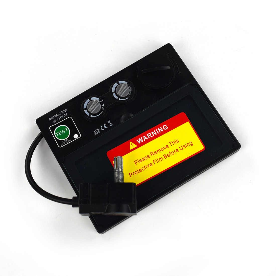 Авто затемнение Сварочная маска шлем LI батарея Солнечный сварочный фильтр