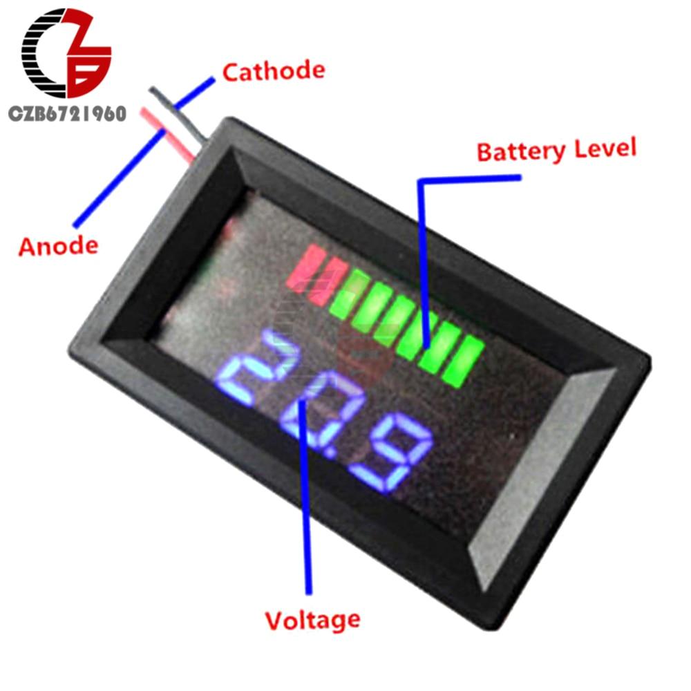 12V Blei Säure Batterie Anzeige Kapazität Status Voltmeter Tester Spannung Meter