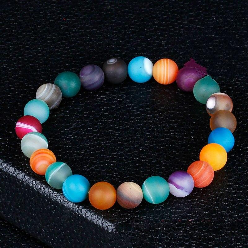 12mm Bead Chakra Bracelet Men Black Lava Healing Balance Beads Reiki Buddha Prayer Natural Stone Yoga Bracelet For Women