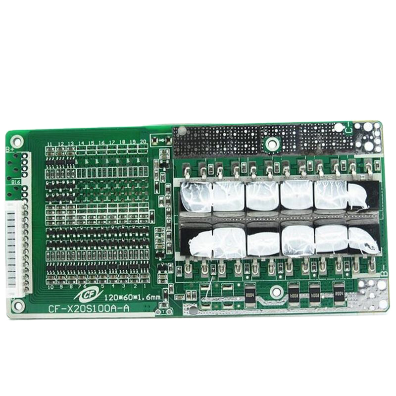 Hot!! 48V 13S 45A Li-Ion Battery Bms Pcb Protection Board With Balance Suitable For Ebike Li-Ion Battery 120 X 60 X 9Mm