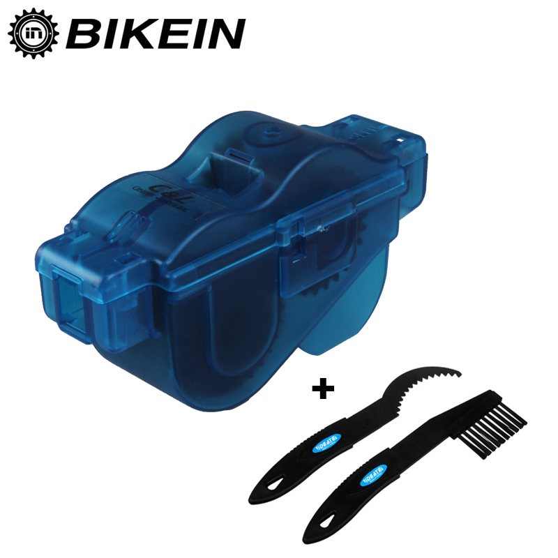 BIKEIN - 3pcs Mountain Bicycle Chain Wash Tool Kits Portable Mountain Bike Chain Cleaner Machine Brushes Scrubber Repair Tools