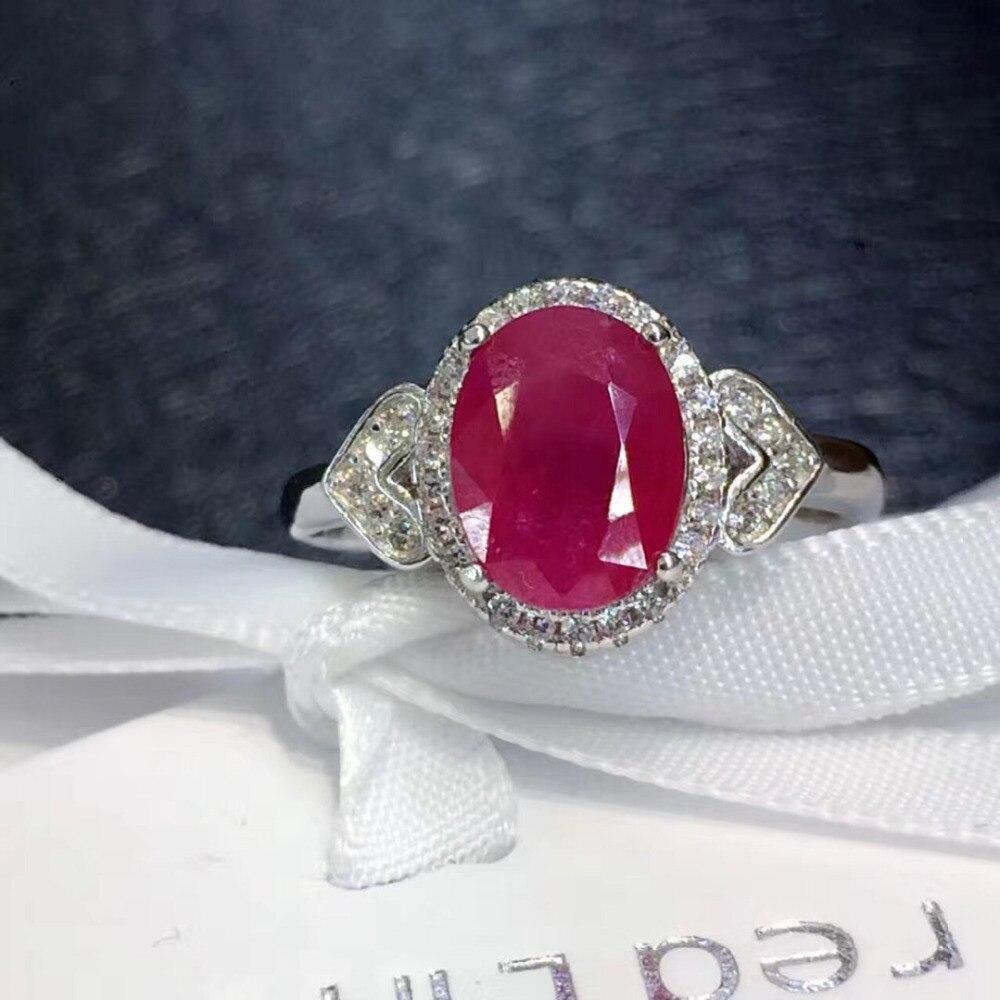 Qi Xuan_Fashion bijoux _ rouge pierre Simple élégant femme Rings_S925 solide argent mode rouge rings_fabricant directement ventes