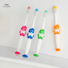 Childrens Toothbrush With Suction Cup Q Sister Superfine Soft Hair Care Gingival Baby Kids Toothbrush