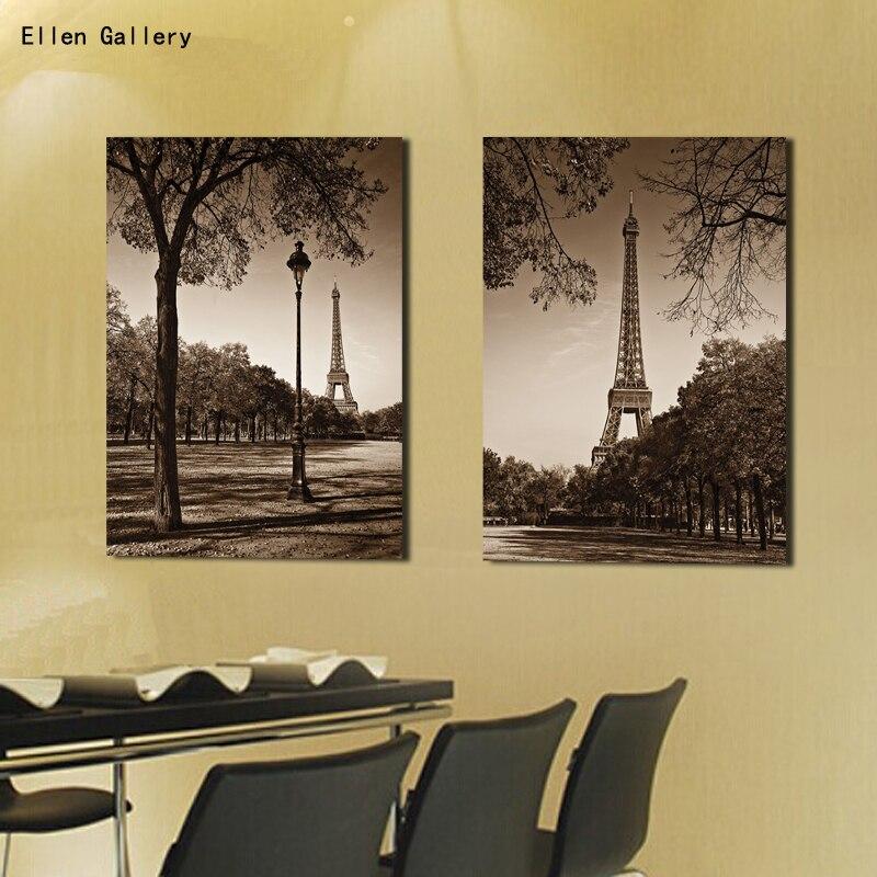 City Building Paris Eiffel Tower Wall Art Modern Painting Cuadros ...