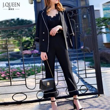 2017 Pant Suits Costumes for women Office Business Uniform Styles Elegant Pant Suits New Formal Work Wear Sets J17CT2012