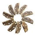10 Unids Butt Bisagras de Aleación de girar 0 grados a 280 grados de Bronce Antiguo 30mm x 22mm Piezas de la herramienta
