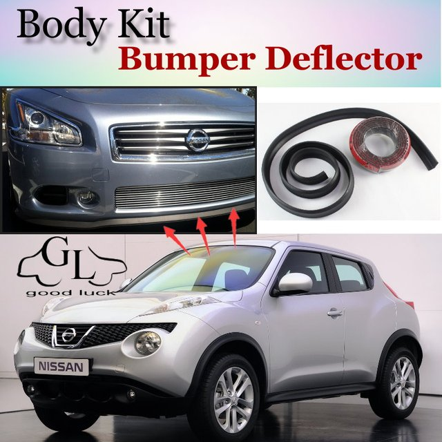 Bumper Lip Deflector Lips For Nissan Juke For Infiniti Esq F15 Front Spoiler Skirt For Topgear