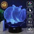Dos desenhos animados 3d animal cão lâmpada lâmpada led novelty night lights USB Luz Presente de Aniversário da Criança Presente Surpresa Brilhante HUI YUAN marca