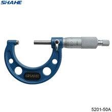 SHAHE 25-50 мм наружный микрометр внутри Снаружи Микрометр 0,01 мм микрометр 25-50 5201-50A