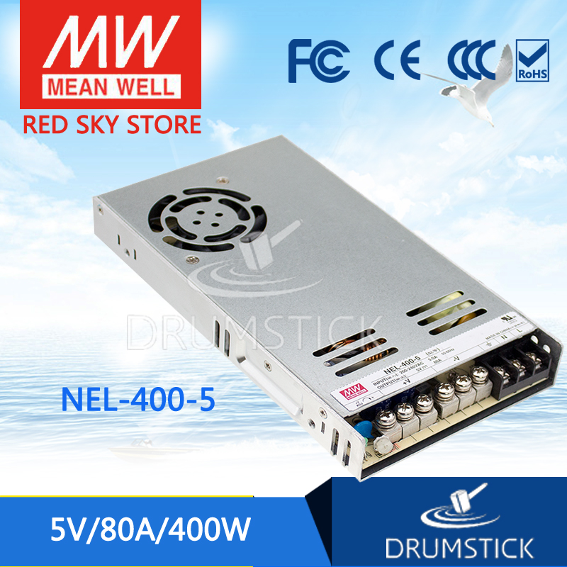 Selling Hot MEAN WELL NEL-400-5 5V 80A meanwell NEL-400 5V 400W Single Output Switching Power Supply 600w 5v 80a single output switching power supply