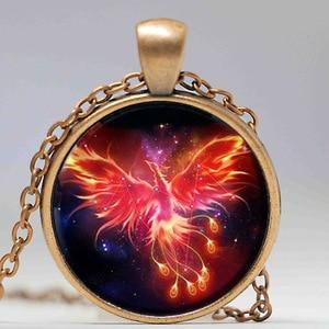 Image 4 - Starry Sky Beast Phoenix Constellation Twelve Gold Color Saint Seiya Glass Pendant Necklace Childrens Classic Comic Memory Gift