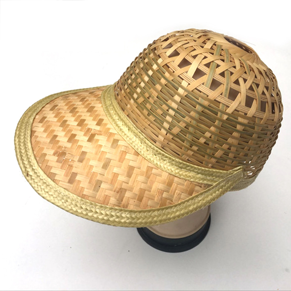 Handmade Weave Straw Hat Chinese Style Bamboo Rattan Hats Tourism ... d593052c900b