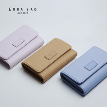 EMMA YAO  Women's leather wallet fashion korean purse brand multi holders wallet