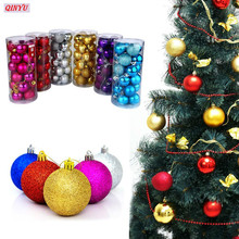 3cm Solid Colorful Christmas Tree Ball Modelling Ball White Craft Balls for DIY Christmas Party Decor 24PCS/Lot
