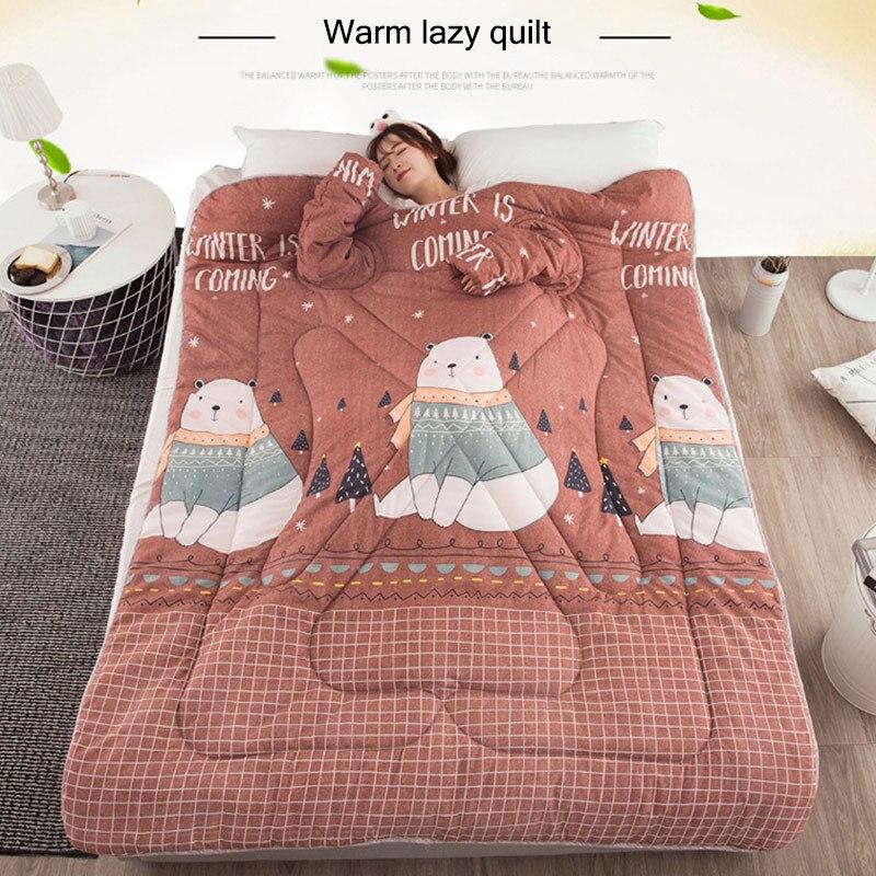 Paresseux couette avec manches couverture Cape Cape Cape sieste couverture dortoir manteau 150x200 cm