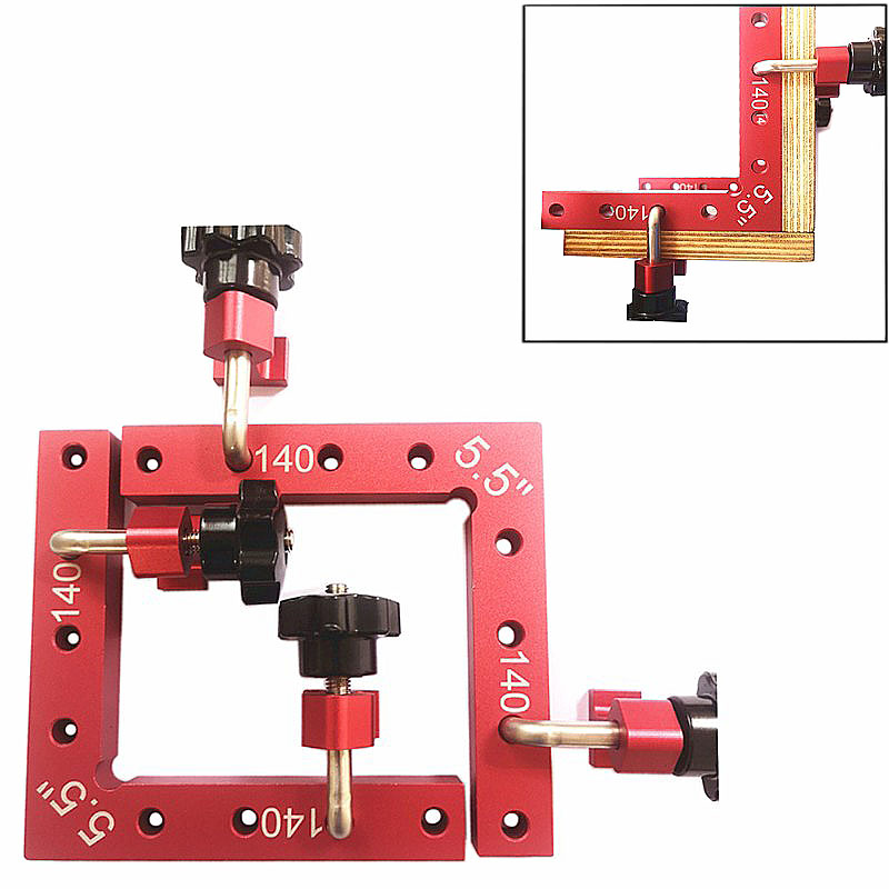 Carpenter s Square Right Angle 90 Degrees L Shaped Auxiliary Fixture Woodworking Positioning Ruler Splicing board
