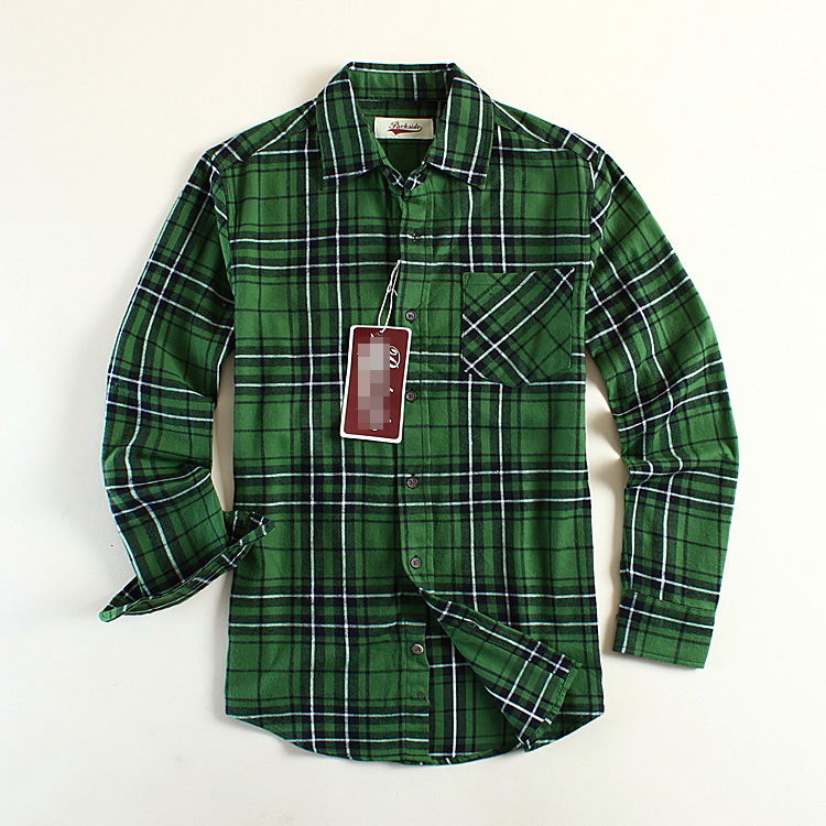 Green Plaid Mens Shirt