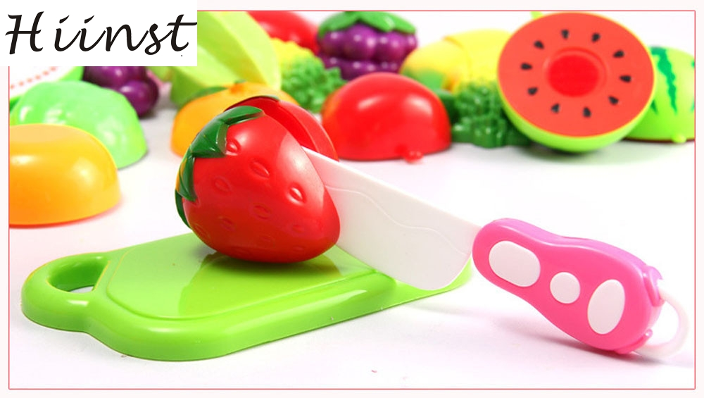HIINST 15pcs Food Toy Cutting Fruit Vegetable Pretend Toy Children Kid Educational Toy OCT23