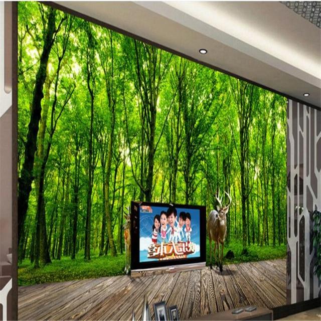 Hochwertig Beibehang Elch Dschungel 3D Landschaft Hintergrund Wandmalereien Große  Eigene Tapete Innen Schlafzimmer Dekoration