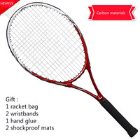 Adult tennis racket, single shooting beginners, high school tennis racket carbon men and women general training tennis racquet