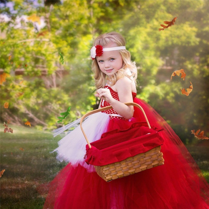 Moeble Little Red Riding Hood Girl Tutu vestido Mullido bebé Tulle - Ropa de ninos