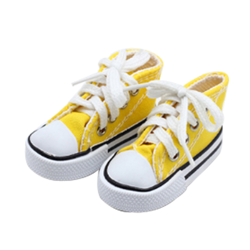 7.5cm Canvas Shoes For Dolls Mini 1/3 BJD Shoes Doll Accessories DIY Handmade Sharon Doll Toys For Girls