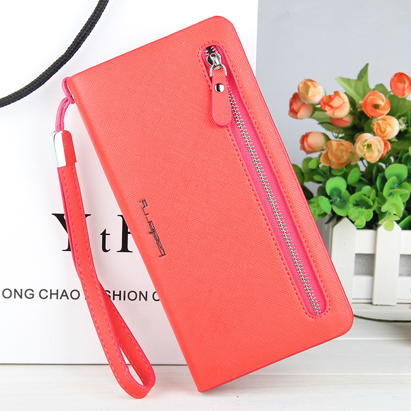 Luxury Brand Leather Phone Wallets Women Zipper Long Coin Purses Money Bag Credit Card Holder High Quality Clucth Wallets Female
