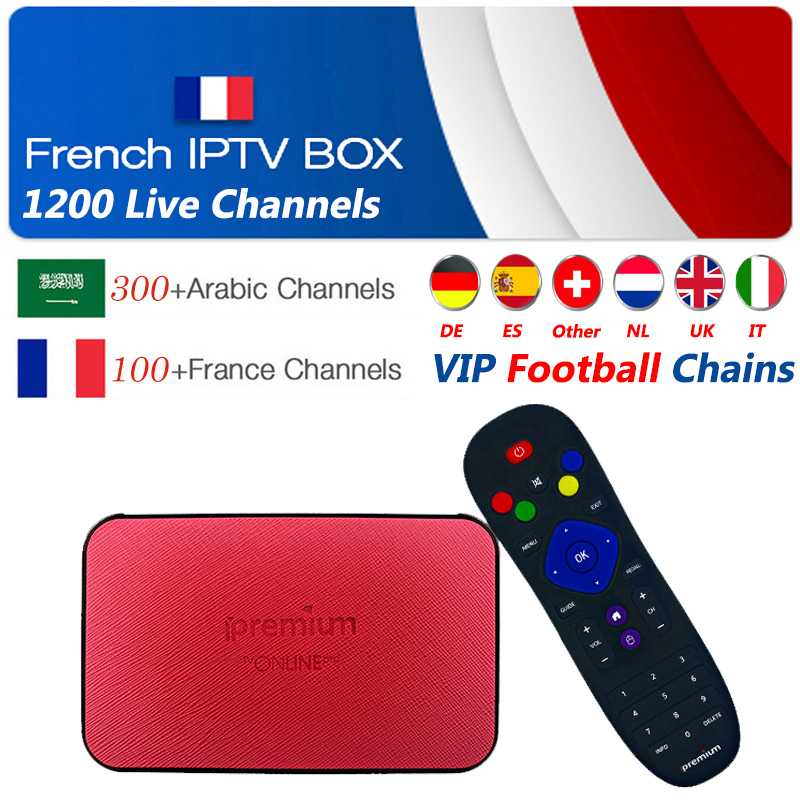 Ipremium avov smart tv box 1 Year king ott iptv subscription 4700 France Arabic Portugal Spain