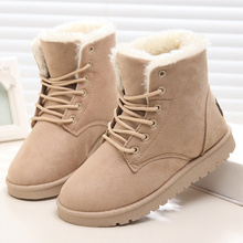Women Boots Fashion Women Shoes 2017 Brand Women Winter Boots Antiskid Snow Boots Plus Size