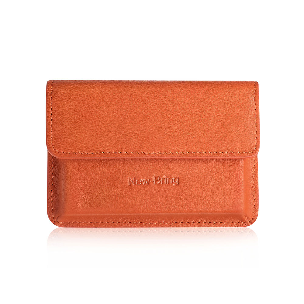NewBring Genunie Leather Fashion Mini Wallet Bag Business Card Holder ID Bank Credit Card Wallet For Men Women Male Female