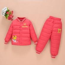 2-6 Years Kids Down Sets Suit For Baby New Children Winter Down Suit Jacket Pants,Warm Suit Kids Children Coats+Pants Sets