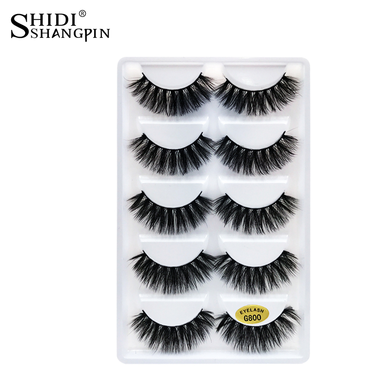 5 pairs thick false eyelashes black long 3d mink eyelashes eyelash extension kit professional 3d mink lashes makeup eye lashes