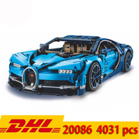 Legoing Bugatti chiron 4031pcs technic series Supercar 911 GT3 rs Mustang Model Building Blocks Bricks Toy