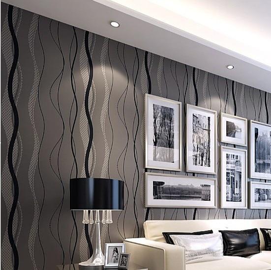 tapeten wohnzimmer modern grau. Black Bedroom Furniture Sets. Home Design Ideas