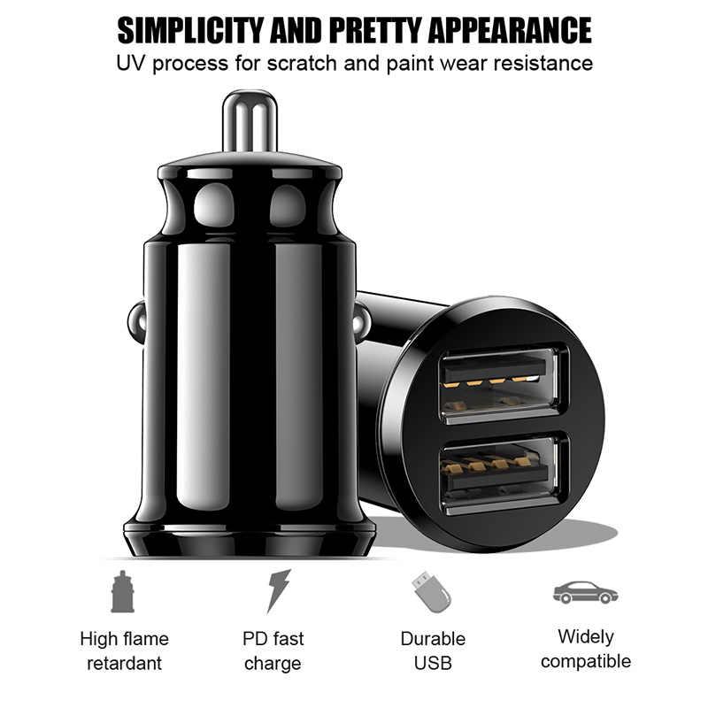 Znp Mini USB Charger Mobil untuk Ponsel Tablet GPS 3.1A Cepat Charger Mobil Charger Dual USB Mobil Telepon adaptor Charger Di Mobil