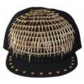 New Arrival Adult Jazz hat snapback cap Men/ Women Rivet Cap Hat Punk style Rock Hip hop Adjustable caps